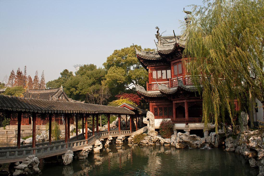 با باغ کلاسیک یو در شهر شانگهای
