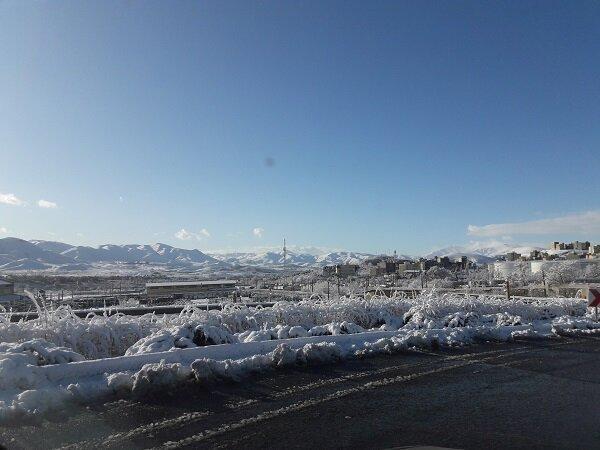 مریوان رکورددار بارش برف، دمای هوای کردستان کاهش می یابد