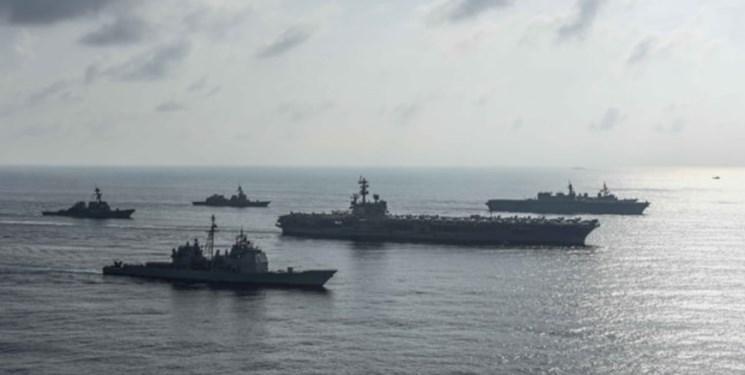تحرک جدید آمریکا برای تقابل با چین با استقرار دو ناوگروه در شرق دور