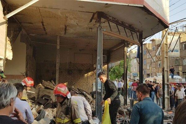 انفجار در ساختمان 3 طبقه در نسیم شهر