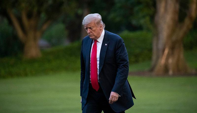 ترامپ کاخ سفید را ترک نموده است