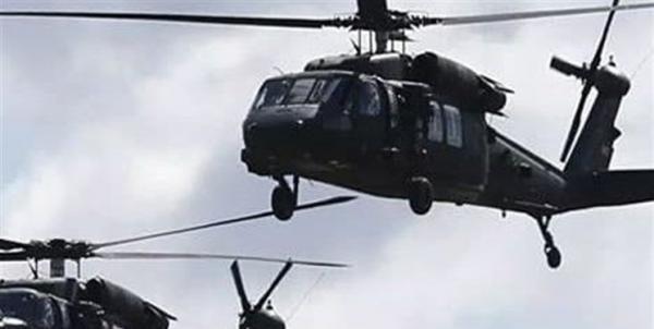 آمریکا دو بالگرد نظامی حامل سلاح و مهمات برای گروه های مسلح سوریه فرستاد