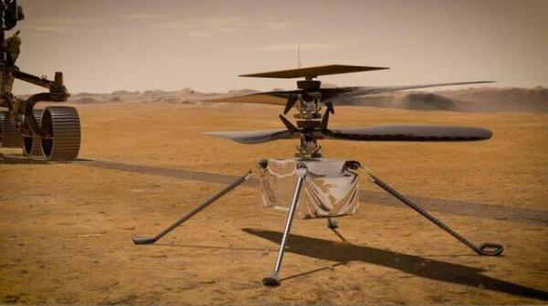 بالگرد نبوغ بر سطح مریخ فرود آمد